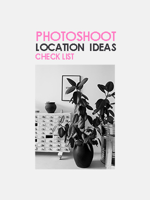 Photoshoot location ideas check list